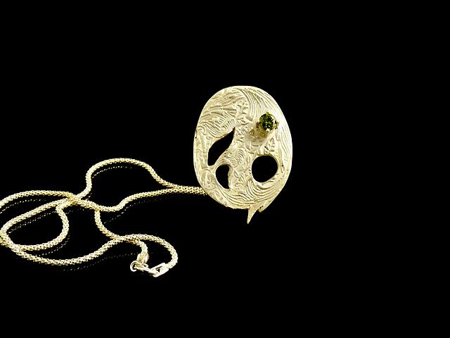 L'un des bijoux qu'elle à réalisé pendant son cours - Cours d'Initiation à la pâte d'argent à Paris avec Chantal V.